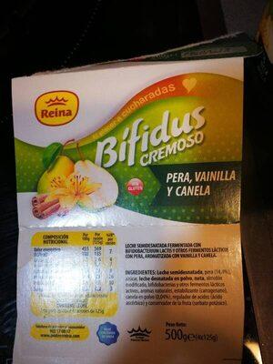 Yogurt Pera, vainilla y canela