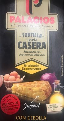 Tortilla de patata casera con cebolla sin gluten sin lactosa