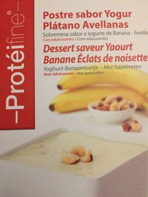 Dessert Saveur Yaourt Banane, Éclats de Noisette