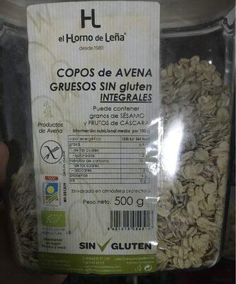 Copos de avena gruesos sin gluten e integrales