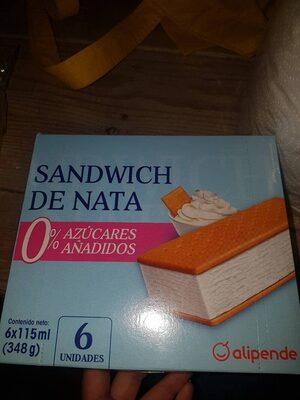 Sandwich de nata 0% azucares añadidos