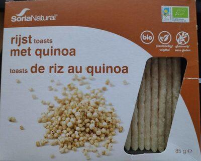 Toasts de  riz au quinoa