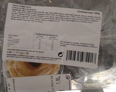 Pack combi donuts