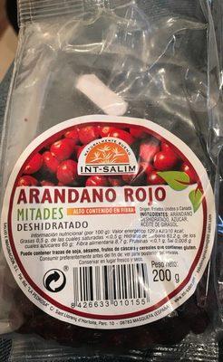 Arandano Rojo Mitades 200G, Intsalim