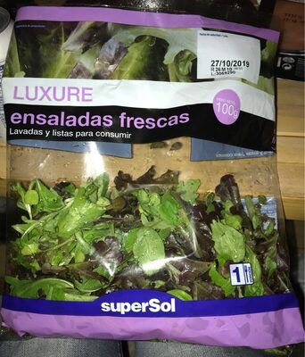 Luxure: ensaladas frescas