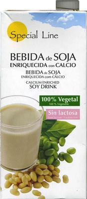 Bebida de soja enriquecida con calcio vegetal