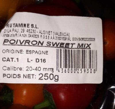 Poivron sweet mix