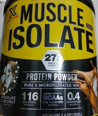 Muscle Isolate chocolate & coconut