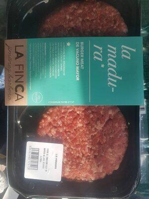 La madura hamburguesas de vacuno mayor sin gluten