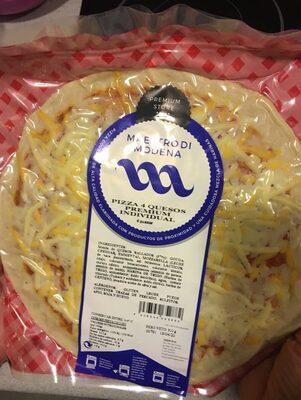 Pizza 4 quesos premium individual
