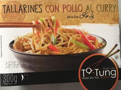 Tallarines con pollo al curry envase 300 g