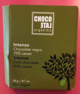 Intense dark chocolate 70% cacao