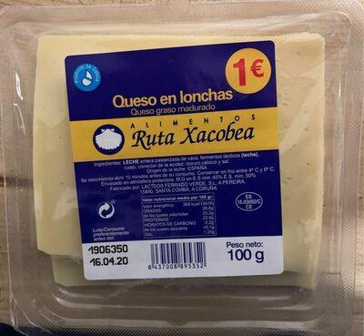 Queso en lonchas (queso graso madurado)