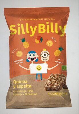 Cuadraditos de Quinoa, Espelta, Mango, Piña y Naranja