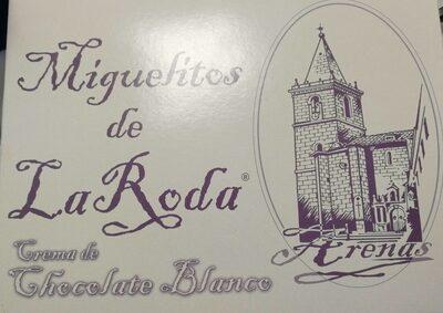 Miguelitos de la Roda, crema de chocolate blanco