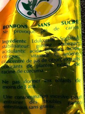 Caramelos sabor limón