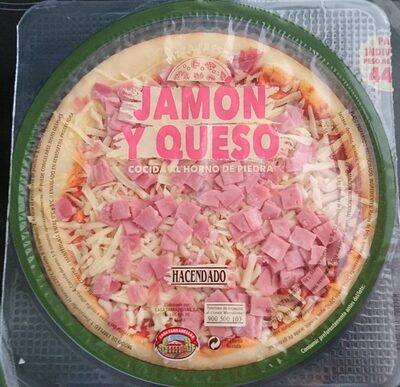 Pizza fresca jamón y queso