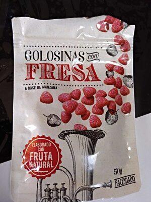 Golosinas con fresa