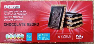 Galletas con tableta chocolate negro