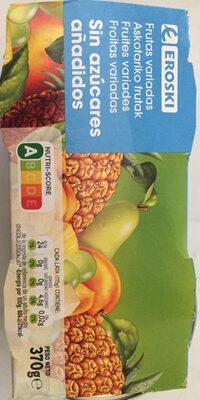 Frutas variadas sin azucares añadidos