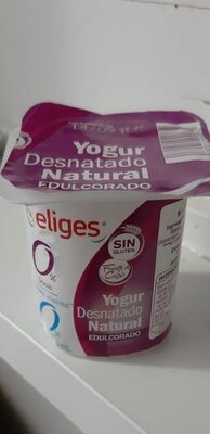 Yogur desnatado natural azucarado