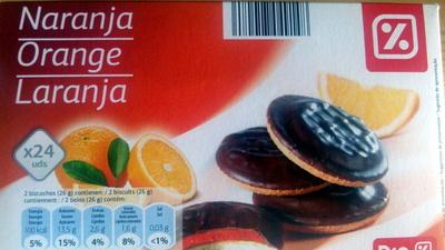 Galletas de chocolate rellenas de naranja