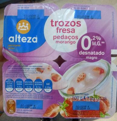 Yogur trozos fresa