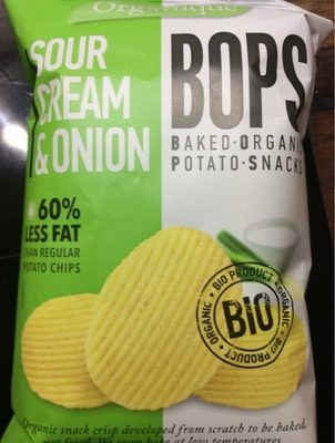 Baked organic potato snacks