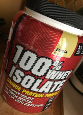 100% whey isolate vanilla