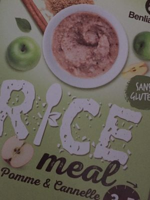 Rice meal pomme cannelle