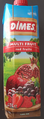 Jus Multifruit Rouge 1 L Dimes