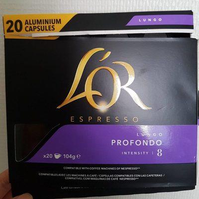 L'or Espresso lungo profondo 20 capsules