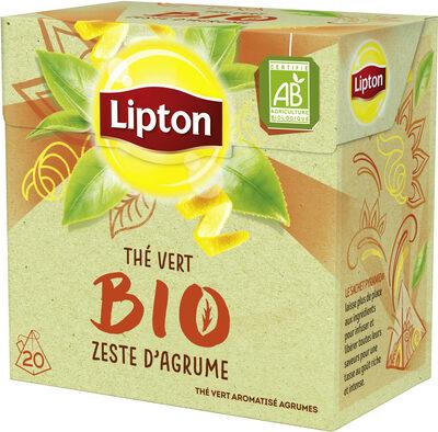 Lipton Thé Vert Zeste d'Agrume 20 Sachets