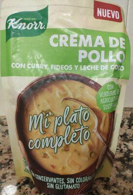 Mi Plato Completo crema de pollo con curry, fideos y leche de coco sobre 383 g