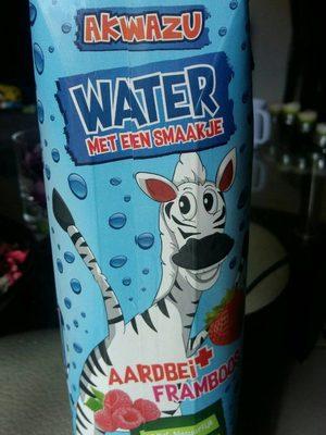 Water aardbei+framboos