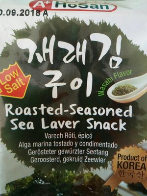 Roasted-seasoned sea laver snack