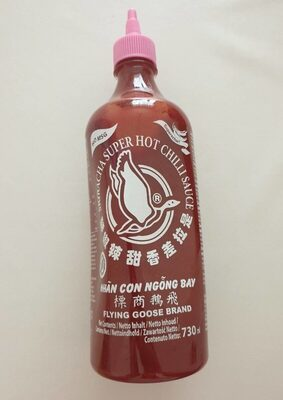 Sriracha super hot chilli sauce no msg