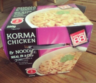 Korma chicken and noodle