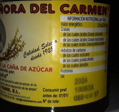 Concentrado del jugo de miel de caña de azucar