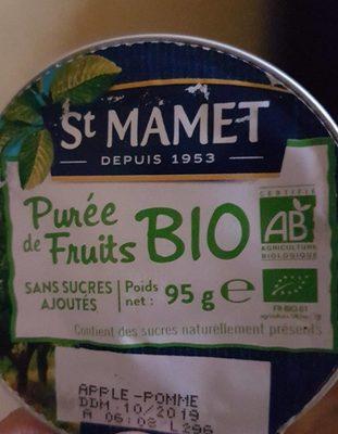purée de pommes bio