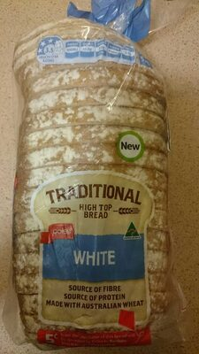 Coles Traditional White Hightop Bread